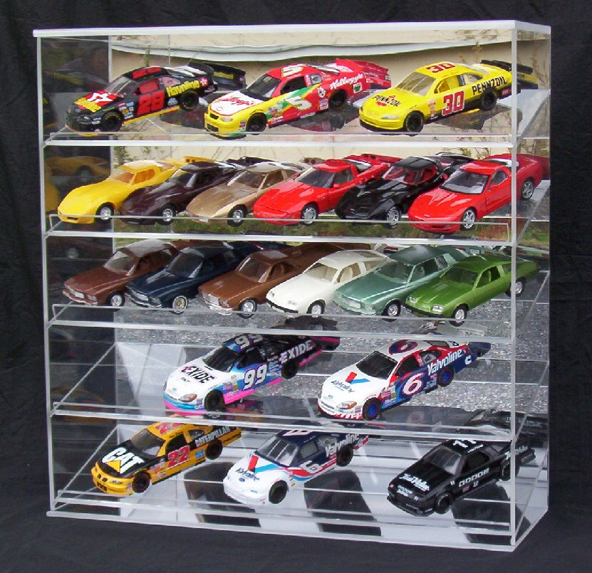 Custom Slant Front Display Case for 1/24th cars