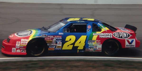 """1994 Jeff Gordon 1/24th Dupont """"Inaugural Indianapolis Raced Win"""" Chevy Lumina car"""