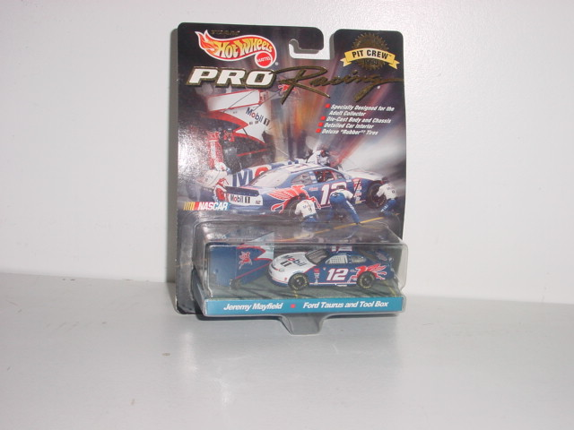 1998 Jeremy Mayfield 1/64th Mobil1 car with Pit Wagon
