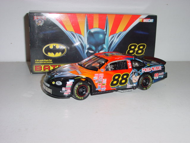"1998 Dale Jarrett 1/24th Quality Care ""Batman"" c/w car"