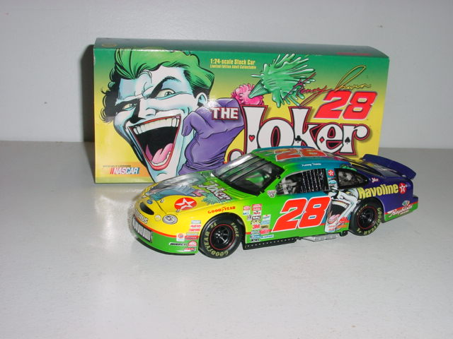 "1998 Kenny Irwin 1/24th Texaco ""Joker"" c/w car"