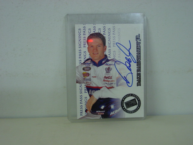 1999 Dale Earnhardt Jr AC Delco Autographed Trading Card