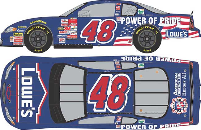 "2001 Jimmy Johnson 1/64th Lowe's ""Power of Pride"" car"