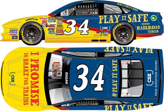 2014 David Ragan 1/64th CSX Play It Safe Pitstop Series car