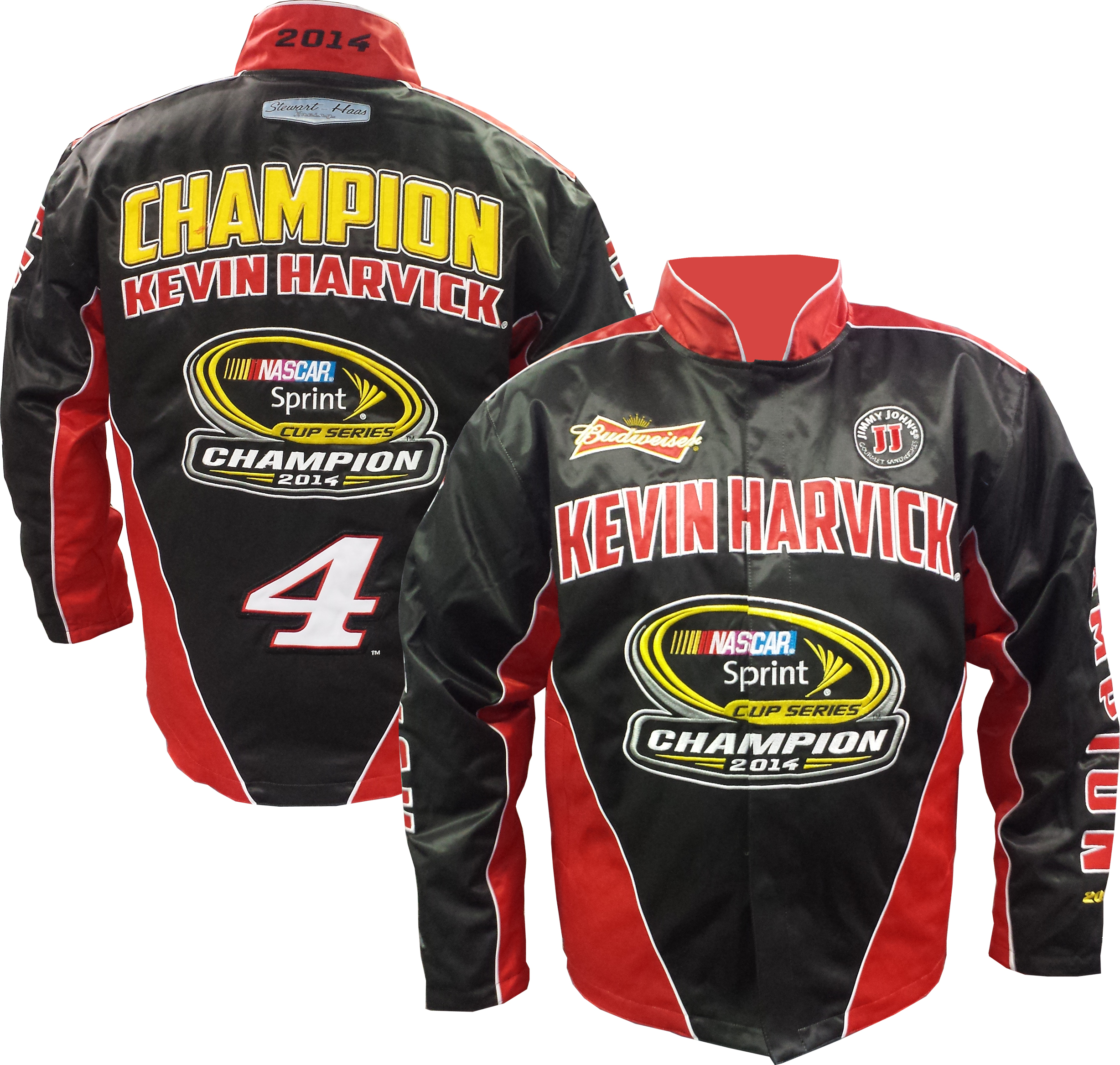 """2014 Kevin Harvick Budweiser """"Sprint Cup Champion"""" Jacket by Chase"""