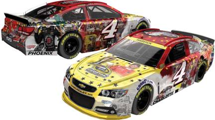 """2014 Kevin Harvick 1/24th """"Sprint Cup Champion"""" Montage car"""
