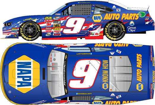 "2014 Chase Elliott 1/64th NAPA ""American Salute"" Pitstop Series car"