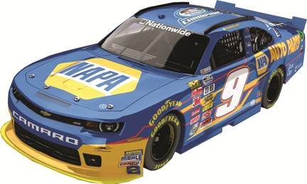 "2014 Chase Elliott 1/24th NAPA ""Nationwide Series Champion"" car"