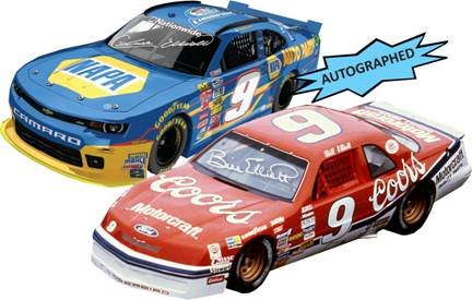 2014 Chase and Bill Elliott 1/24th NAPA and Coors Autographed cars