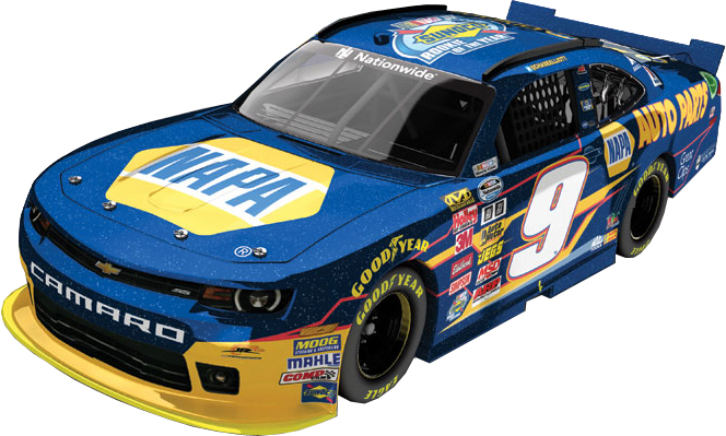 "2014 Chase Elliott 1/24th NAPA ""Rookie of the Year"" ""Galaxy Finish"" car"