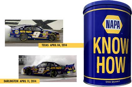 "2014 Chase Elliott 1/64th NAPA ""2 Pack Tin""""Xfinity Series"" Pitstop Series cars"