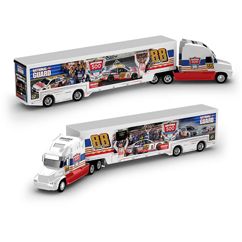 "2014 Dale Earnhardt Jr 1/64th National Guard ""Daytona 500 Win"" hauler"