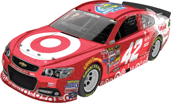 "2014 Klye Larson 1/24th Target ""Rookie of the Year"" ""Galaxy Finish"" car"