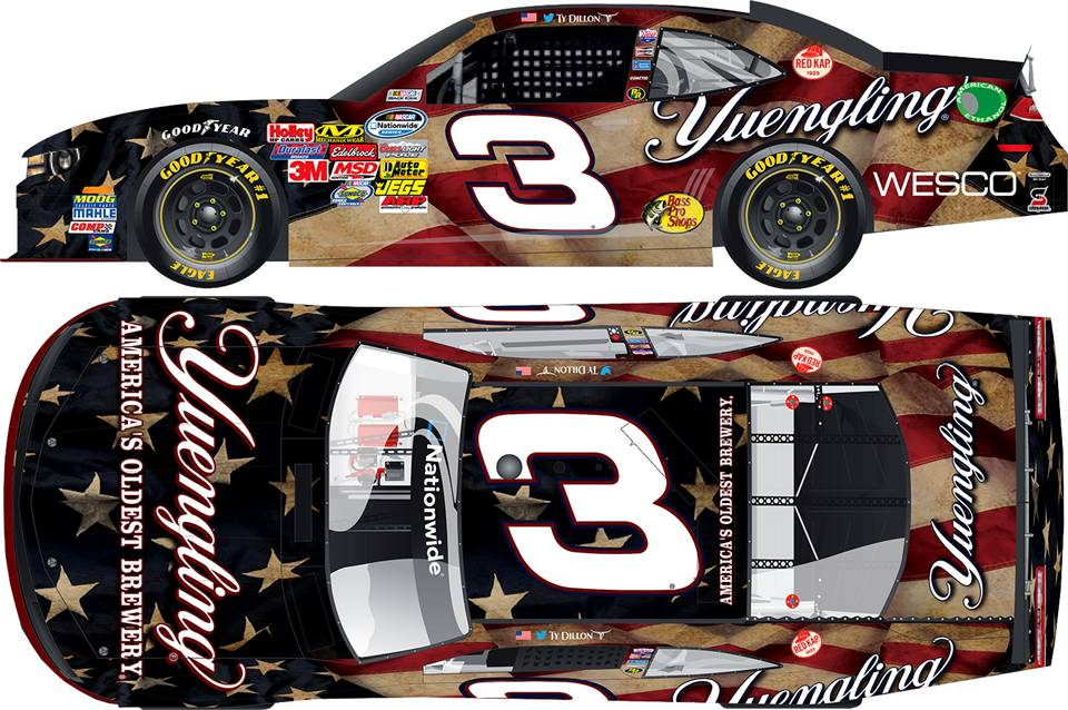 "2014 Ty Dillon 1/24th Yuengling Light ""American Salute"" car"