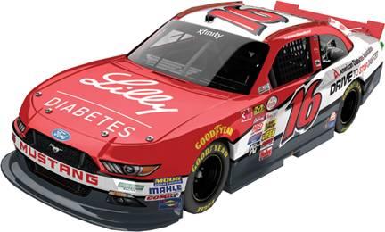 "2015 Ryan Reed 1/64th American Diabetes Association/Lilly ""Xfinity Series"" Pitstop Series car"