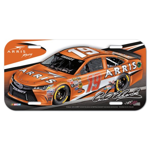 2015 Carl Edwards ARRIS plastic license plate
