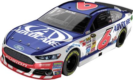2015 Trevor Bayne 1/24th Advocare car