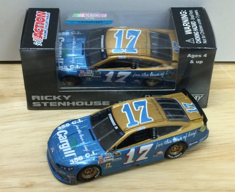 2015 Ricky Stenhouse Jr 1/64th Cargill Beef Darlington Throwback Pitstop Series car