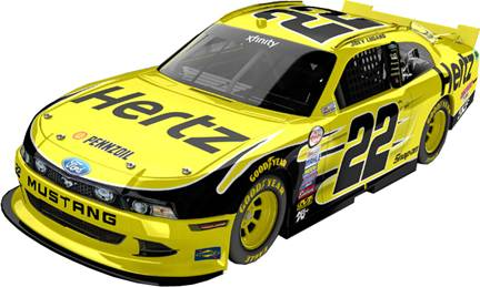 "2015 Joey Logano 1/24th Hertz ""Xfinity Series "" car"