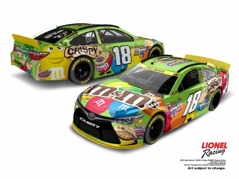 """2015 Kyle Busch 1/24th M&M's """"Sprint Cup Champion"""" car"""