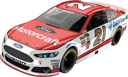 2015 Ryan Blaney 1/24th Motorcraft car