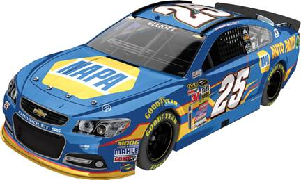 """2015 Chase Elliott 1/24th NAPA """"Sprint Cup"""" """"Autographed"""" car"""