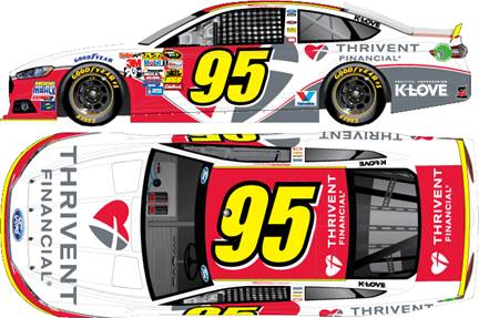 2015 Michael McDowell 1/64th Thrivent Financial  Pitstop Series car