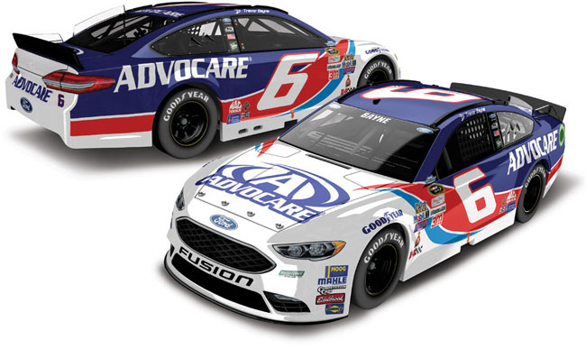 "2016 Trevor Bayne 1/64th Advocare ""Darlington Throwback"" Pitstop Series car"