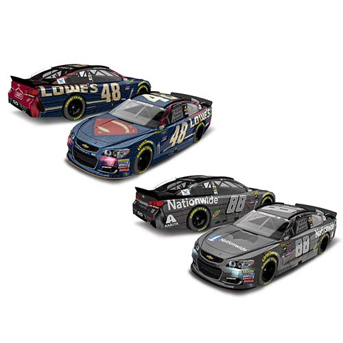 2016 Dale Earnhardt Jr/Jimmie Johnson 1/64th Batman/Superman Pitstop Series 2 car set