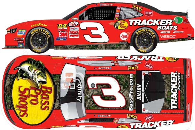 "2016 Ty Dillon 1/64th Bass Pro Shops ""Xfinity Series"" Pitstop Series car"
