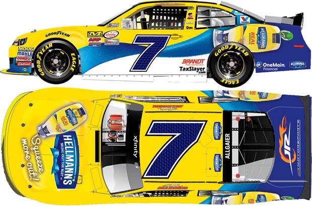 """2016 Justin Allgaier 1/64th Hellmann's Squeeze """"XFINITY Series"""" Pitstop Series car"""