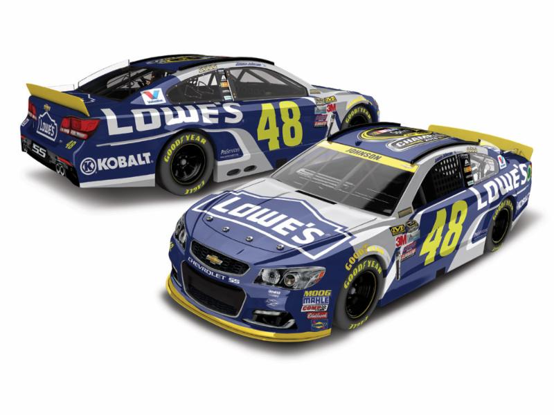 "2016 Jimmie Johnson 1/64th Lowe's ""7-Time Champion"" Pitstop Series car"