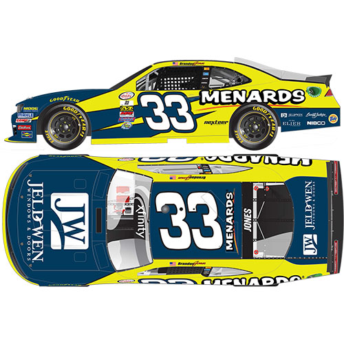 "2016 Brandon Jones 1/64th Menards ""Xfinity Series"" Pitstop Series car"
