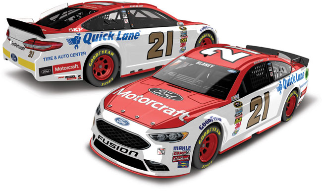 2016 Ryan Blaney 1/24th Motorcraft car