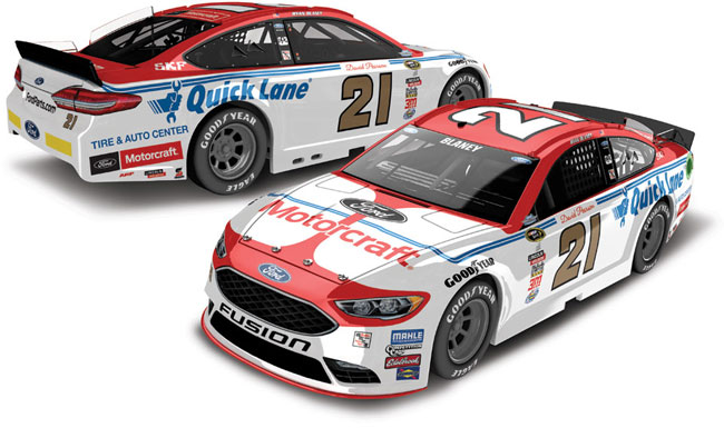 "2016 Ryan Blaney 1/24th Motorcraft ""Darlington Throwback"" car"