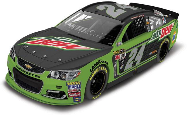 2016 Chase Elliott 1/24th Mountain Dew car