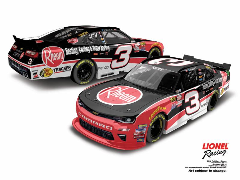 "2016 Ty Dillon 1/64th Rheem ""Xfinity Series"" Pitstop Series car"