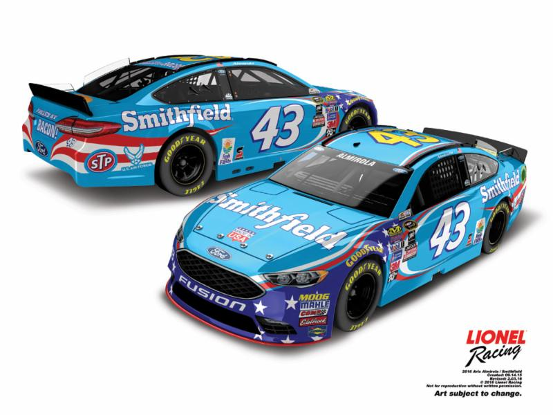 2016 Aric Almirola 1/64th Smithfield Pitstop Series car