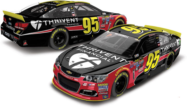2016 Michael McDowell 1/64th Thrivent Financial Pitstop Series car