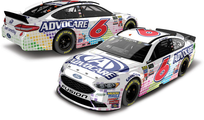 2017 Trevor Bayne 1/64th Advocare Pitstop Series car