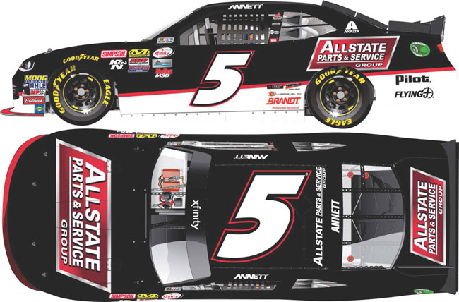 """2017 Michael Annett 1/64th Allstate Parts & Service """"Xfinity Series"""" Pitstop Series car"""