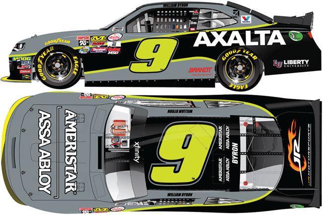 "2017  William Byron 1/64th Axalta/Ameristar ""Xfinity Series"" Pitstop Series car"
