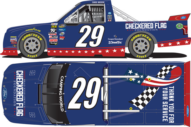 "2017 Chase Briscoe 1/24TH Brad Keselowski ""Checkered Flag Foundation"" truck"