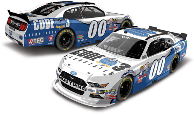 """2017 Cole Custer 1/64th Code3 """"Xfinity Series"""" Pitstop Series car"""