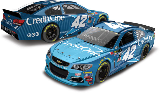 2017 Kyle Larson 1/64th Credit One Pitstop Series car