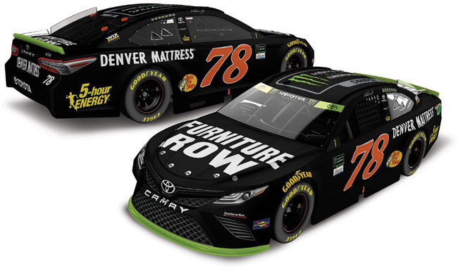 "2017 Martin Truex Jr 1/24th Furniture Row ""Monster Energy Champion"" car"