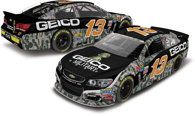 "2017 Ty Dillon 1/64th Geico ""Military"" Pitstop Series car"