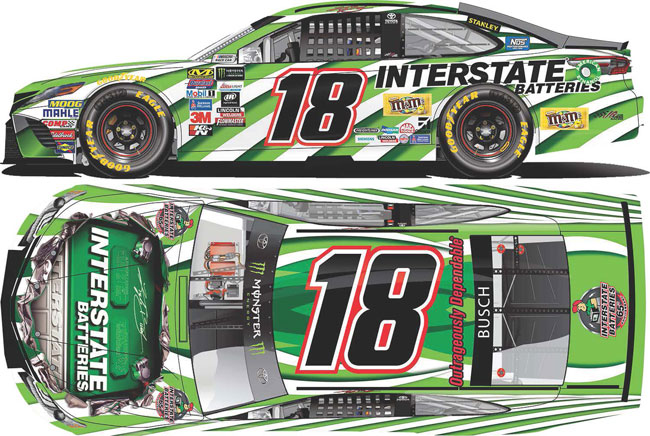 2017 Kyle Busch 1/64th Interstate Batteries Pitstop Series car