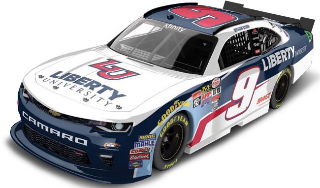 "2017 William Byron 1/64th Liberty University ""Xfinity Series"" Pitstop Series car"