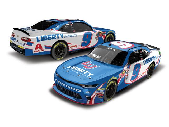 "2017 William Byron 1/64th Liberty University ""Darlington Throwback"" ""Xfinity Series"" Pitstop Series car"